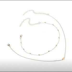 Jewelry - Gold plated heart choker necklace